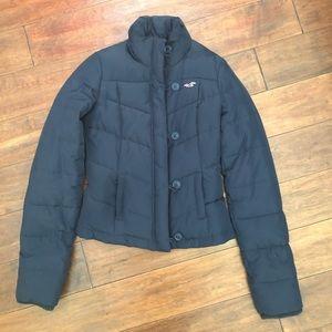 Hollister Navy Blue Puffer Jacket Size Small